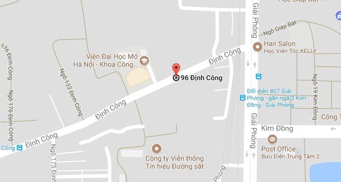 Nhà E9 Tầng 9 Tòa Nhà 96B Phố Định Công – Quận Hoàng Mai – TP Hà Nội