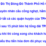 Hút hầm cầu quận Tân Phú TPHCM